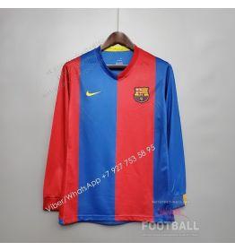 Футболка Барселона с длинным рукавом домашняя ретро 06/07