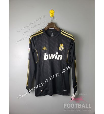 Футболка Реал Мадрид с длинным рукавом ретро 2012 (вариант 1)