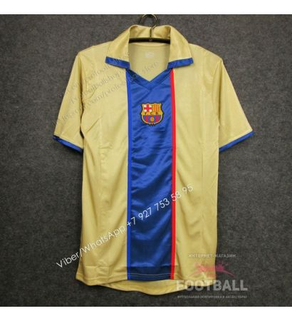 Футболка Барселона гостевая ретро 2002/03
