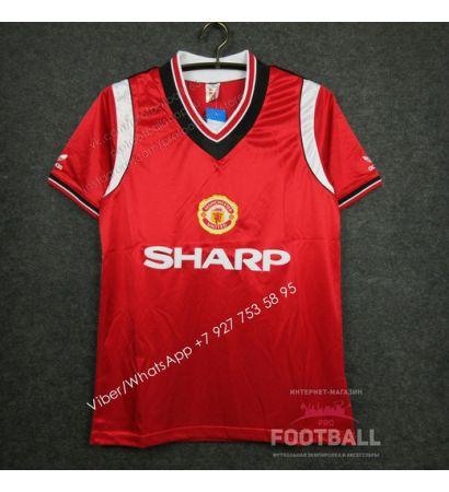 Футболка Манчестер Юнайтед домашняя ретро 84/86