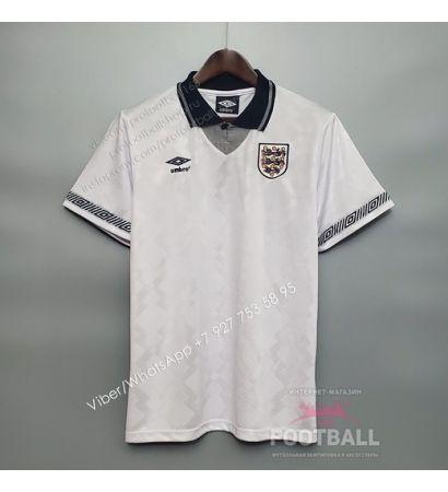 Футболка сборной Англии домашняя ретро 1990
