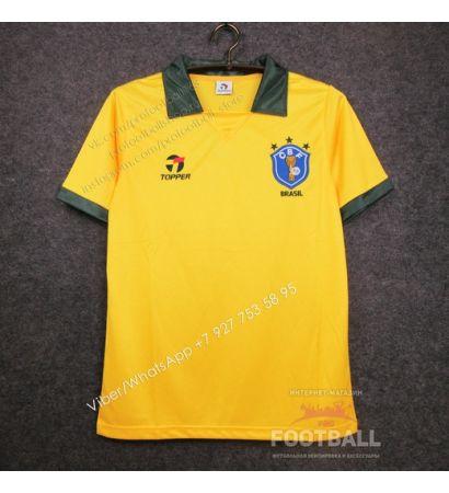 Футболка сборной Бразилии домашняя ретро 1998