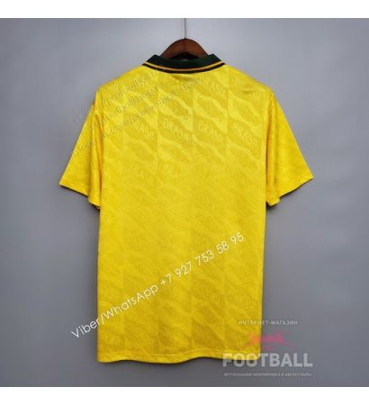 Футболка сборной Бразилии домашняя ретро 91/93