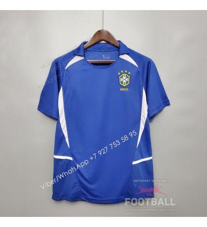 Футболка сборной Бразилии гостевая ретро 2002