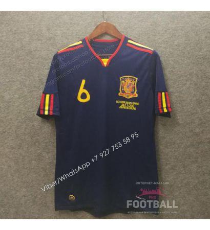 Футболка сборной Испании гостевая ретро 2010