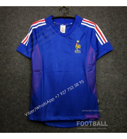 Футболка сборной Франции домашняя ретро 2002