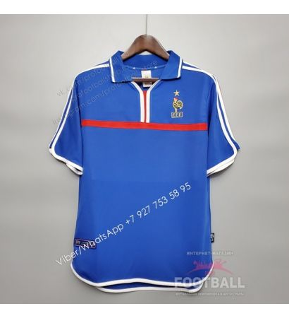 Футболка сборной Франции домашняя ретро 2000