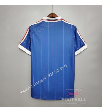 Футболка сборной Франции домашняя ретро 1982