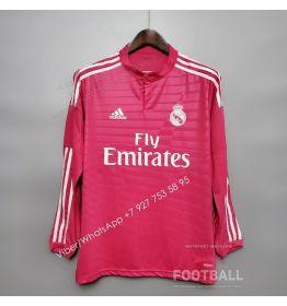 Футболка Реал Мадрид с длинным рукавом гостевая ретро 14/15