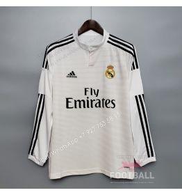 Футболка Реал Мадрид с длинным рукавом домашняя ретро 14/15