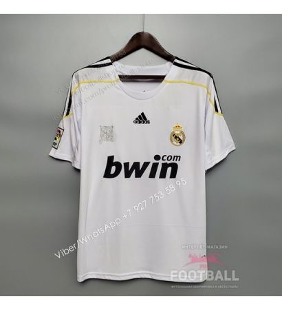 Футболка Реал Мадрид домашняя ретро 09/10