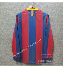 Футболка Барселона с длинным рукавом домашняя ретро 07/08 (вариант 2)