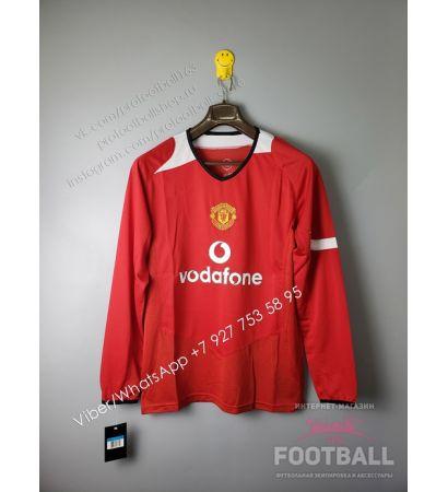 Футболка Манчестер Юнайтед с длинным рукавом домашняя ретро 2005