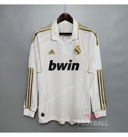 Футболка Реал Мадрид с длинным рукавом домашняя ретро 11/12