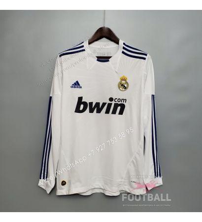 Футболка Реал Мадрид с длинным рукавом домашняя ретро 10/11