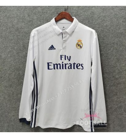 Футболка Реал Мадрид с длинным рукавом ретро 16/17 (вариант 1)