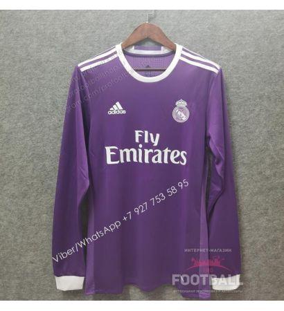 Футболка Реал Мадрид с длинным рукавом ретро 16/17 (вариант 2)