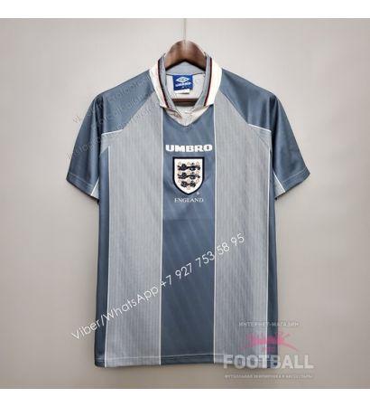 Футболка сборной Англии гостевая ретро 1996