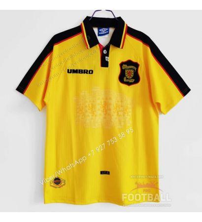 Футболка сборной Шотландии гостевая ретро 96/98