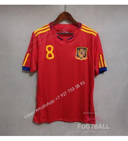 Футболка сборной Испании домашняя ретро 2010