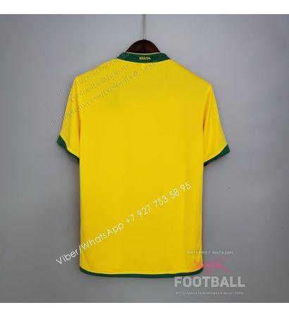 Футболка сборной Бразилии домашняя ретро 2006