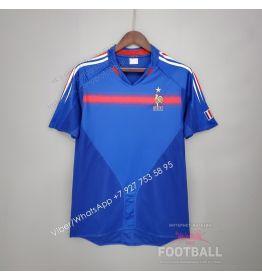 Футболка сборной Франции домашняя ретро 2004