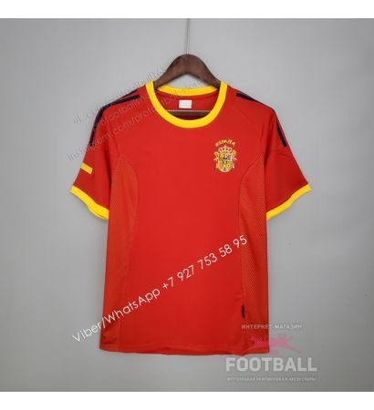 Футболка сборной Испании домашняя ретро 2002