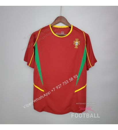 Футболка сборной Португалии домашняя ретро 2002
