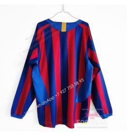 Футболка Барселона с длинным рукавом домашняя ретро 05/06