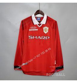 Футболка Манчестер Юнайтед с длинным рукавом домашняя ретро 99/00