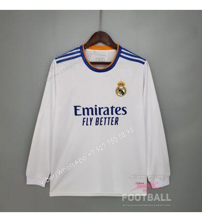 Футболка Реал Мадрид с длинным рукавом домашняя 21/22