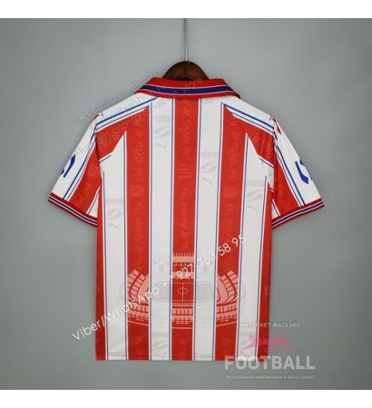 Футболка Атлетико Мадрид домашняя ретро 96/97