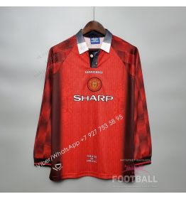 Футболка Манчестер Юнайтед с длинным рукавом домашняя ретро 1996