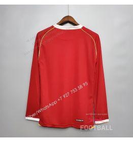 Футболка Манчестер Юнайтед с длинным рукавом домашняя ретро 06/07