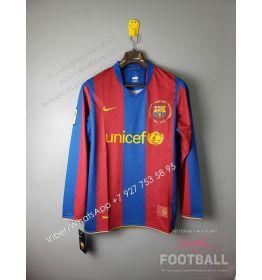 Футболка Барселона с длинным рукавом домашняя ретро 07/08