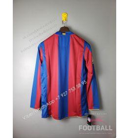 Футболка Барселона с длинным рукавом домашняя ретро 07/08 (вариант 1)