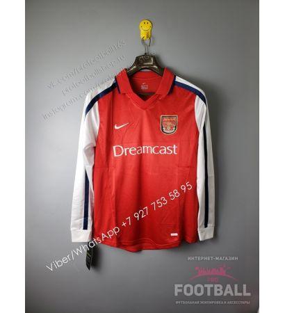 Футболка Арсенал с длинным рукавом домашняя ретро 2000